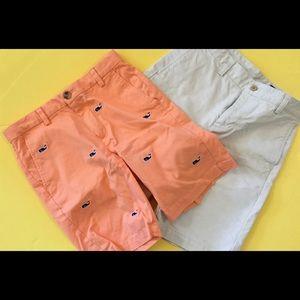 2 pairs boys Vineyard Vines shorts Sz 12
